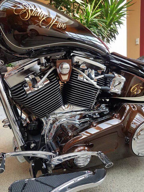Motorrad mit NCP9H versiegelt